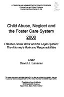 Child Abuse  Neglect  and the Foster Care System Book