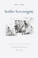 Settler Sovereignty
