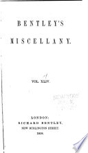 Bentley s Miscellany Book