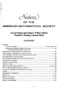 Notices of the American Mathematical Society Book