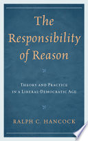 The Responsibility of Reason Book