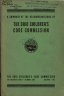 A Summary of the Recommendations of the Ohio Children's Code Commission