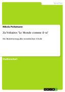 """Zu Voltaires """"Le Monde comme il va"""""""