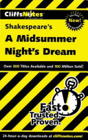 CliffsNotes on Shakespeare   s A Midsummer Night   s Dream
