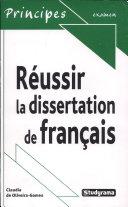 Réussir la dissertation de français