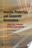 Investor Protection and Corporate Governance Book