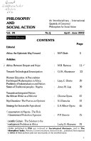 Philosophy and Social Action