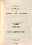 New Zealand Journal of Agricultural Research ebook