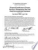 Southeast Oregon Resource Management Plan Book