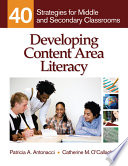 Developing Content Area Literacy Book