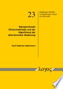 Biproportionale Divisormethoden und der Algorithmus der alternierenden Skalierung