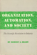 Organization  Automation  and Society