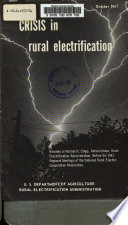 Crisis in Rural Electrification, Remarks of Norma L. Clapp, 1961