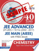 (SAMPLE) 40 Years IIT-JEE Advanced + 16 yrs JEE Main Topic-wise Solved Paper Chemistry with Free ebook 13th Edition