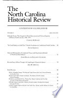 The North Carolina Historical Review  , Volume 88