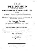 Gran dizionario grammatico-pratico italiano-tedesco, tedesco-italiano