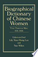 Biographical Dictionary of Chinese Women Book PDF