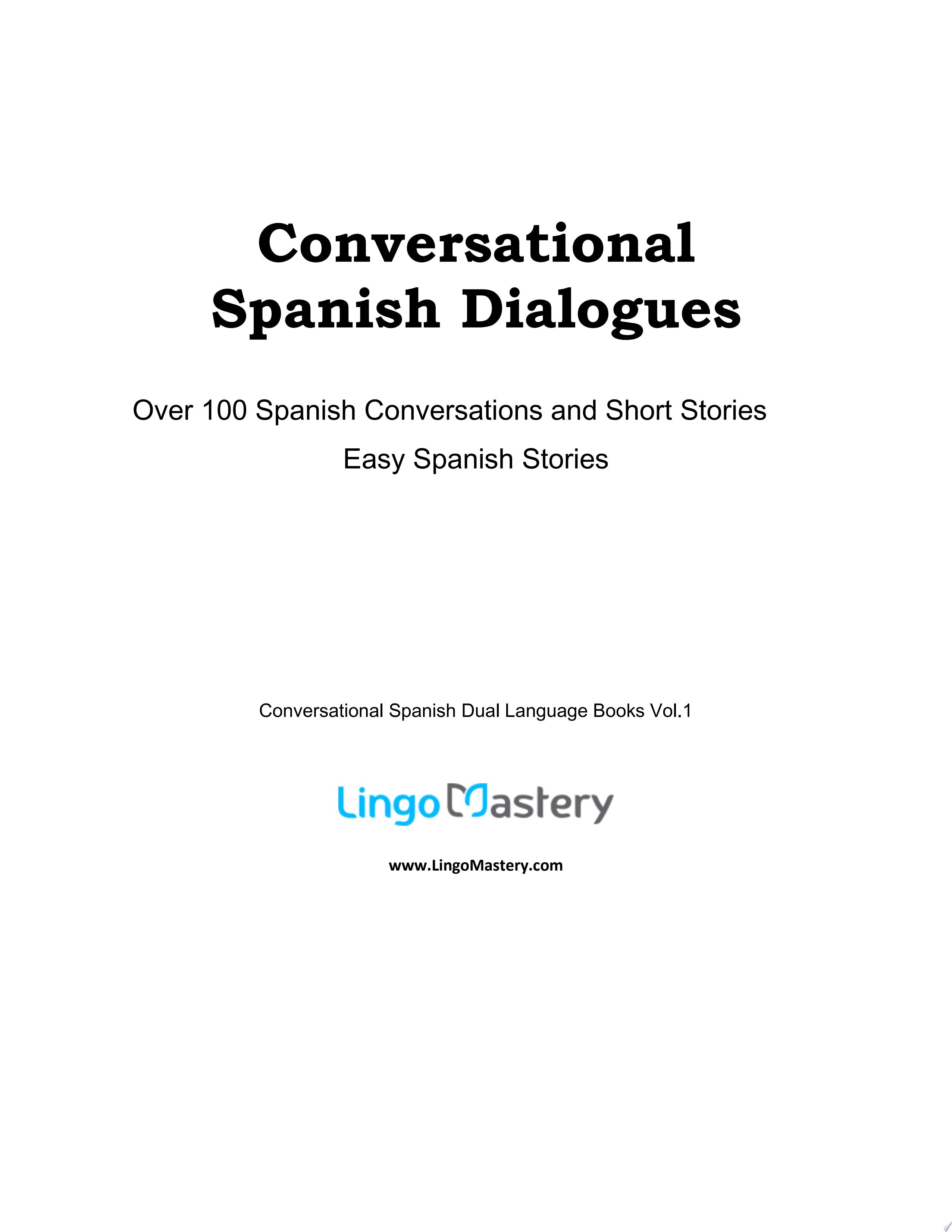Conversational Spanish Dialogues