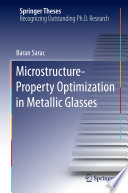 Microstructure Property Optimization in Metallic Glasses