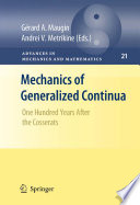 Mechanics of Generalized Continua Book