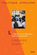 Pdf POLITIQUE AFRICAINE N-106- Le Nigeria sous Obasanjo Telecharger