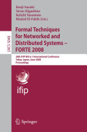 Pdf Formal Techniques for Networked and Distributed Systems – FORTE 2008 Telecharger