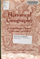 Historical Geography Book