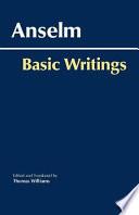 Anselm: Basic Writings