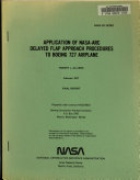 Application of NASA ARC Delayed Flap Approach Procedures to Boeing 727 Airplane