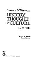 Eastern   Western History  Thought   Culture  1600 1815