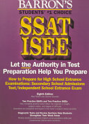 How to Prepare for the SSAT  ISEE High School Entrance Examinations Book