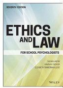 Ethics and Law for School Psychologists Pdf/ePub eBook