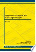 Progress in Industrial and Civil Engineering III Book