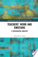 Teachers  Work and Emotions Book