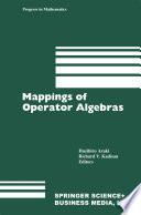 Mappings of Operator Algebras