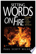 Setting Words on Fire Book