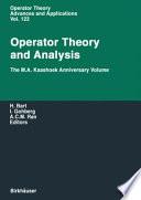 Operator Theory and Analysis