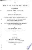 An English and Turkish Dictionary