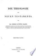 Die Theologie des Neuen Testaments