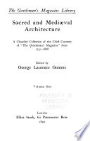 Sacred and Mediaeval Architecture  Architectural innovation  by John Carter