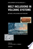 Melt Inclusions In Volcanic Systems Book PDF