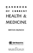 Handbook of Current Health   Medicine Book