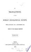Transactions of the Bombay Geographical Society