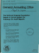 The National Science Foundation Needs a Formal System for Followup on Audit Reports