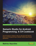 Xamarin Studio for Android Programming  A C  Cookbook