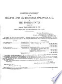 Treasury Combined Statement of Receipts, Expenditures, and Balances of the United States Government