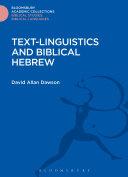 Text Linguistics and Biblical Hebrew