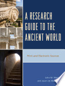 A Research Guide to the Ancient World Book