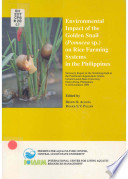 Environmental Impact Of The Golden Snail Pomacea Sp On Rice Farming Systems In The Philippines