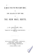 A Breeze from the Great Salt Lake, Or, New Zealand to New York by the New Mail Route